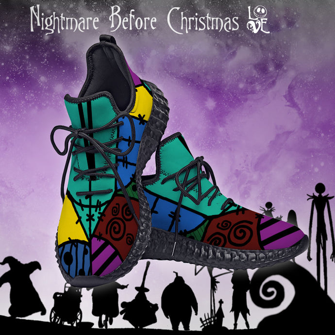 NIGHTMARE BEFORE CHRISTMAS SALLY CUSTOM YEEZY SNEAKERS