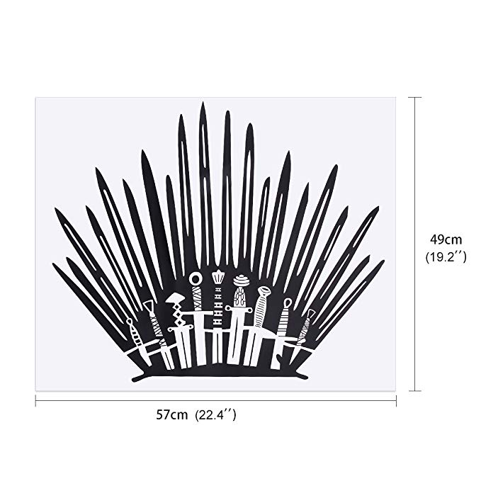 GOT Funny Decor Bathroom Wall Stickers Iron Throne Decal Stick Home Decoration