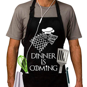 Dinner Is Coming Aprons