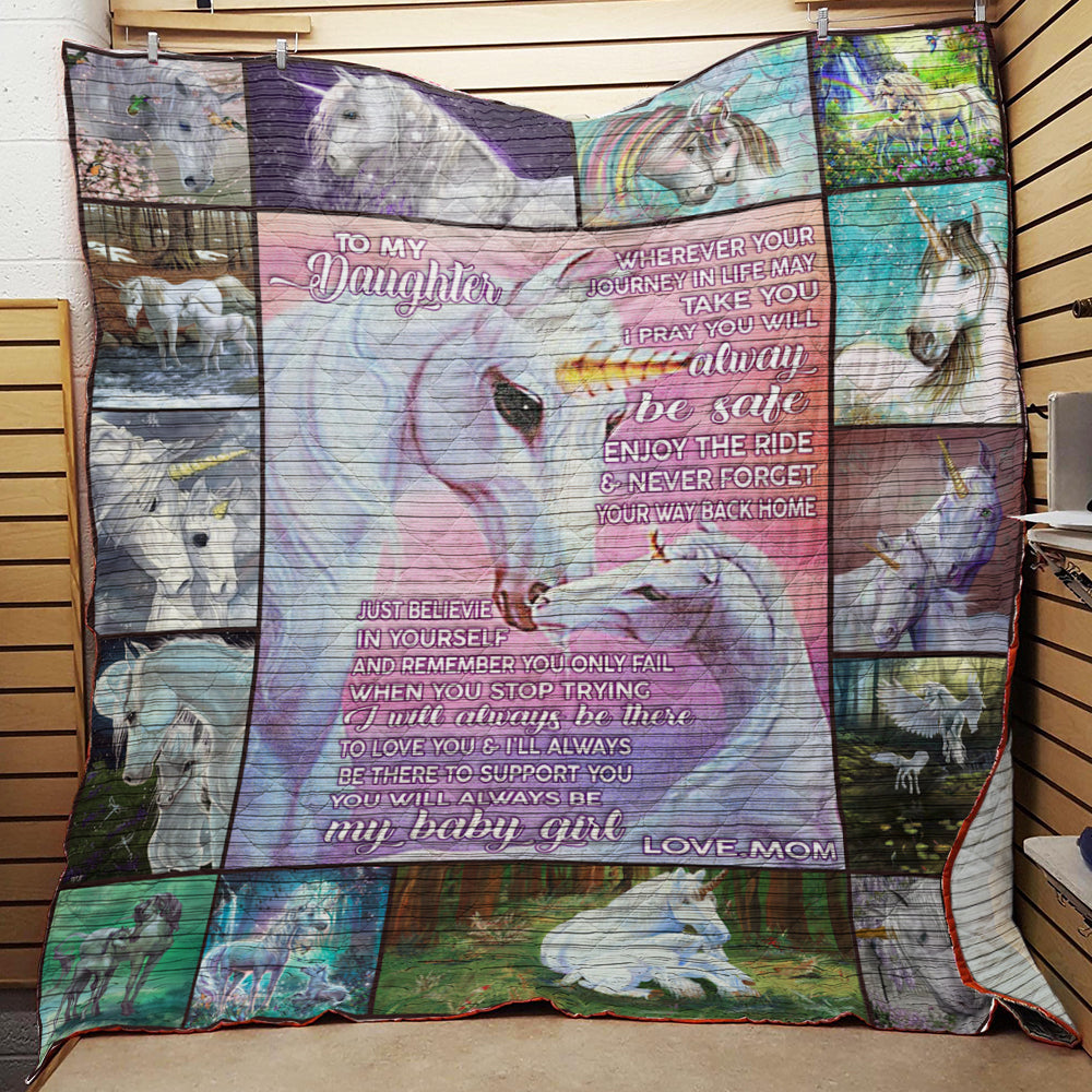 To My Daughter From Mom Quilt
