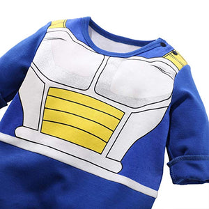 Baby Clothes Newborn Vegeta Jumpsuits Baby Lovely Long Sleeve Cartoon Romper