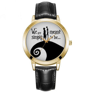 Cartoon nightmare before christmas pocket watch kids Child watches top brand luxury rose gold reloj mujer Leather