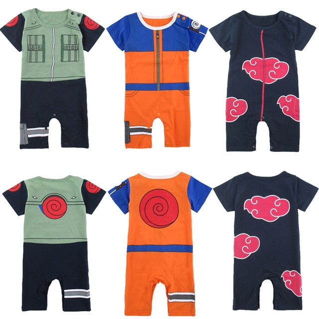 Baby Boy Uzumaki Naruto Costume Romper Funny Cute Infant Playsuit 0-24M