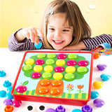 Baby Puzzle Children Puzzles 3D Toys Composite Picture Puzzle Creative Mosaic Mushroom Nail Kit Educational Game Toys For Kid