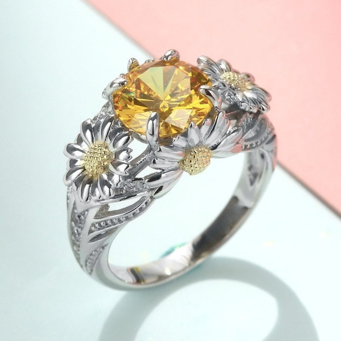 Sunflower Rings For Women Ladies Jewelry Bridal Wedding/ Valentine Gift