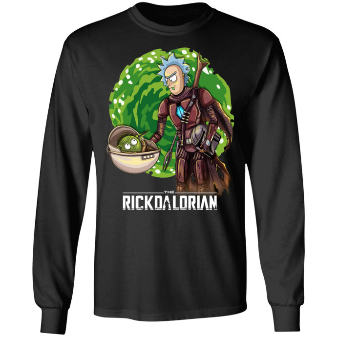 rickdalorian and baby morty yoda G240 Gildan LS Ultra Cotton T-Shirt