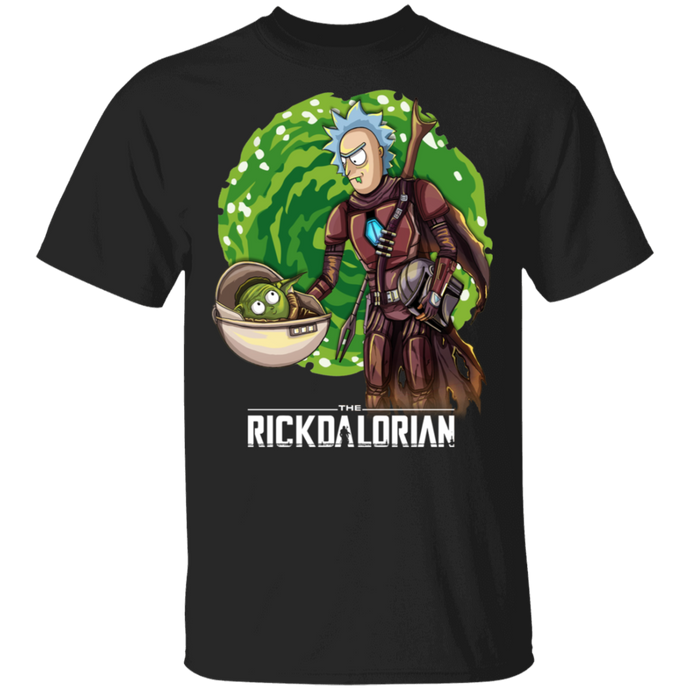 Rickdalorian and Baby Yoda Morty 💀 T-Shirt