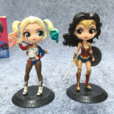 Figure Wonder Woman And Harley Quinn PVC Model Toy 16cm