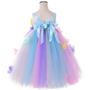 Girl Tutu Dress Princess Tulle Pastel Fairy Flower Girl Dresses for Weddings Pageant Gowns Kids Birthday Party Christmas Dress