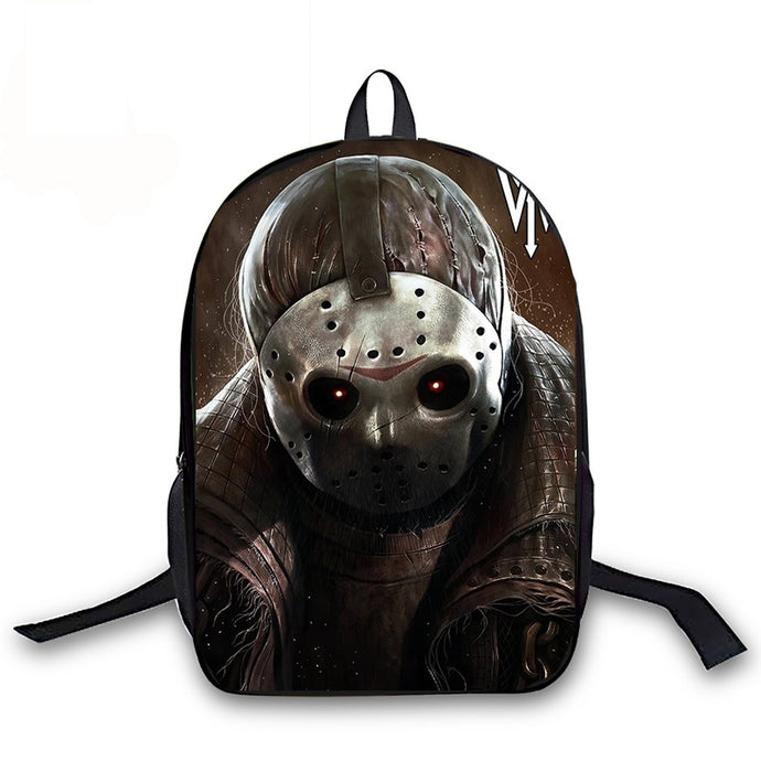 Horrible Friday The 13th Jason Backpack for Teenage Girls Boys Book Bag Women Men Laptop Travel Backpack Children School Bags