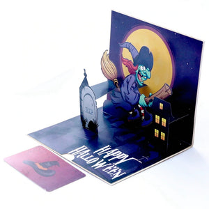10 Pack Wholesale Halloween Card 3D Pop Up Cards for Happy Halloween Hallowmas Greeting Cards Gifts Witches Pumpkin Card