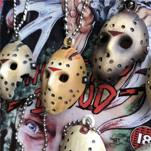 1pcs at random Original Garage kit 4cm Secondhand FRIDAY THE 13th Mask Key Ring Mini Figure Collectible Model Loose Toy Gifts