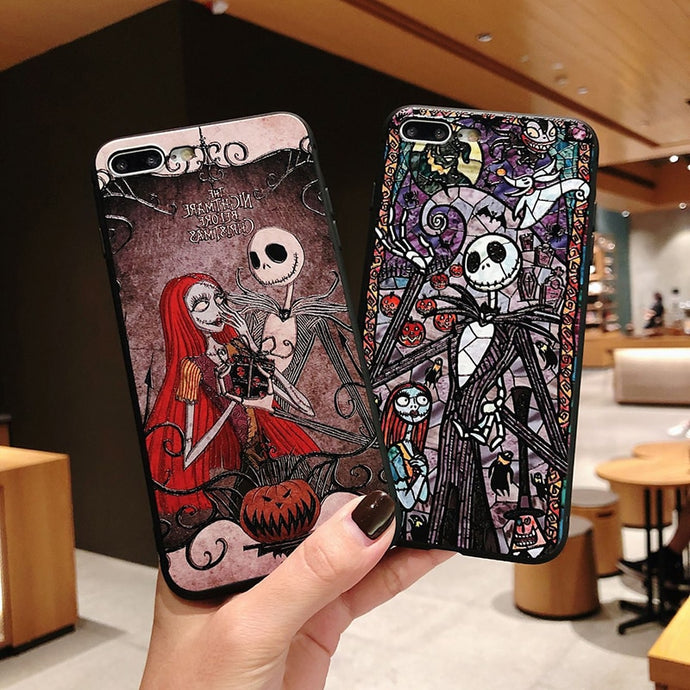 LACK Cool Halloween Phone Case For iphone XS Max Case For iphone XR X 6S 6 7 8 Plus Luxury 3D Relief Cartoon Cases Soft Cover