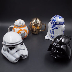 Star Wars Ceramics Mug R2D2 BB Darth Vader 3D Coffee And Drink Cup High Temperature Manufacture Porcelain