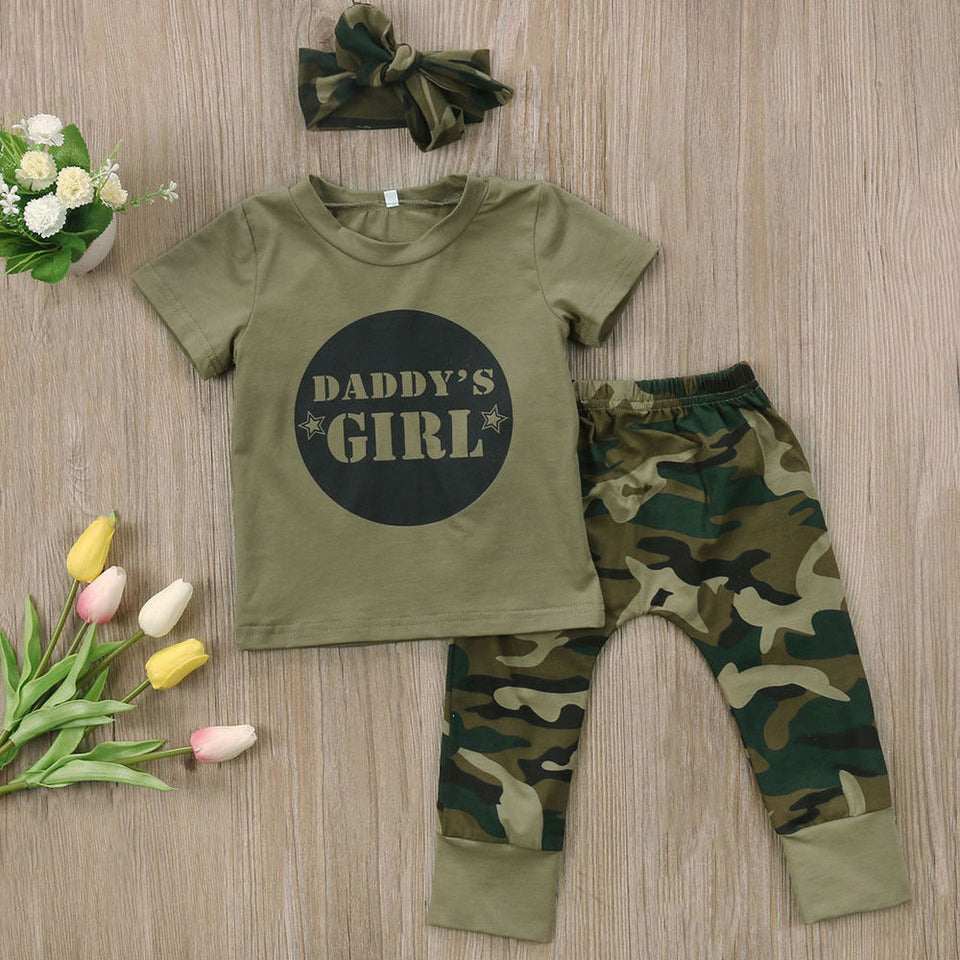 US 2PCS Toddler Kids Baby Girl Clothes Set Tops T Shirt Long Pants Outfit Party
