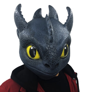 Funny Movie Mask The Hidden World Toothless Masks Adult Carnival Party Helmet