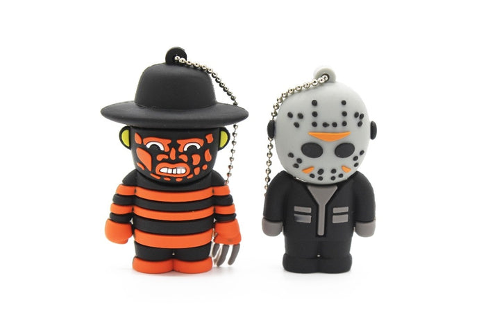 100% real capacity terror cartoon Freddy Jason Ghost King Friday 13th new Beetle flash drive USB 2.0 4GB 8GB 16GB 32G