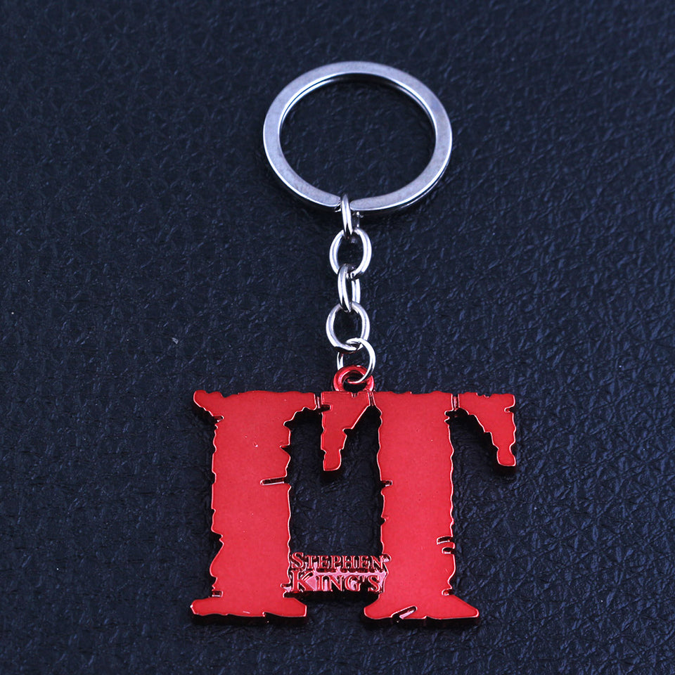 Hot Movie IT Series Keychain Stephen King's Clown killer Pennywise Keyring Pendant Men Women Accessories