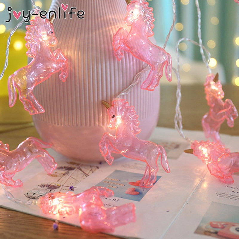 1set 1.5M 10Leds Unicorn Night String Lights Lamps Party Decoration Wall Home Ornament Unicorn Party Birthday Wedding Decoration