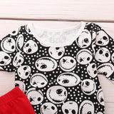 Children clothing set Girls Skull Print Romper full sleeve o-neck Jumpsuit+Pants Halloween Outfits autumn para adolecentes