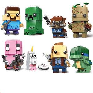 Brickheadz building Blocks Action Figure children gifts for minifigure