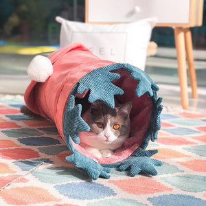 Cute Folding Vegetable Shape Warm Pet Tunnel Dogs Nest Cats Toy