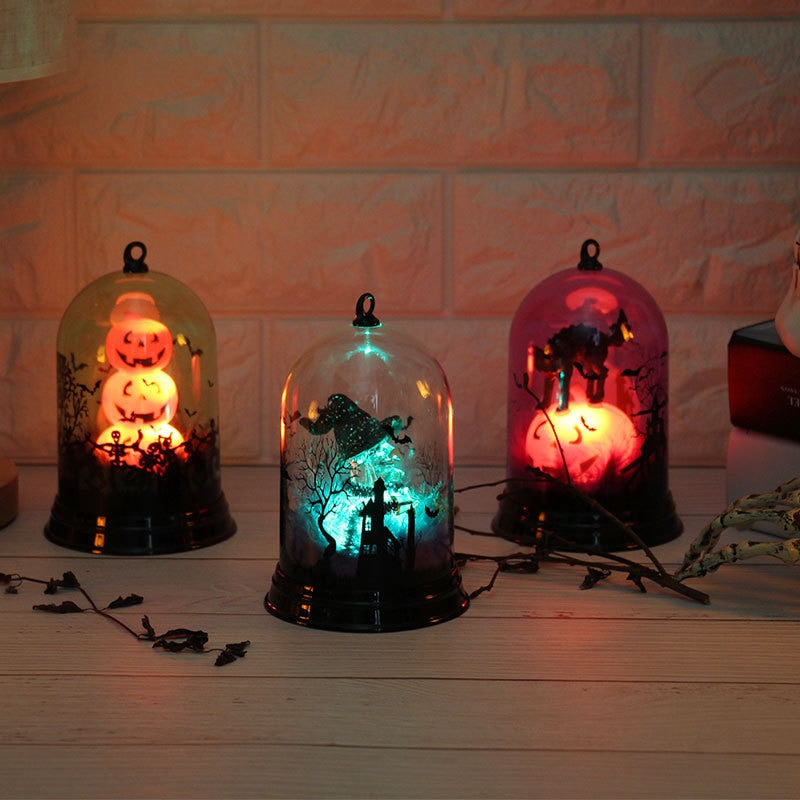 Halloween Pumpkins/Witch/Castle LED String Lights Lanterns Lamp Party Supplies Halloween Decor Haunted House Decoration