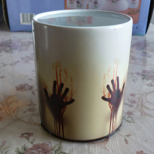 Black Ceramic Zombie Color Changing Coffee Mug Heat sensitive Magic Tea cup mugs Christmas Halloween gift