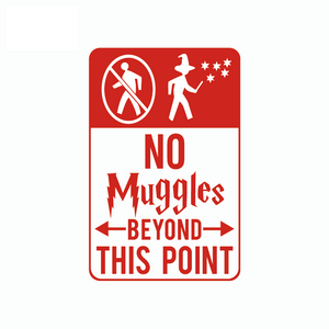 Harry Potter Wall Sticker No Muggles Beyond This Point Vinyl Wall Decal for Kids Rooms Bedroom Home Decor