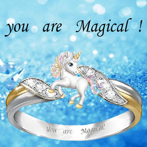 2pcs Cute Rainbow Unicorn Jewelry Set