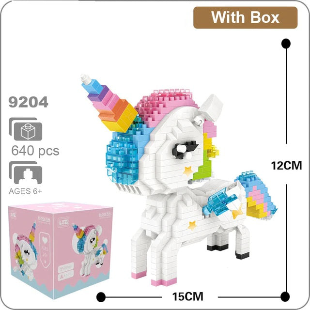 Diamond Blocks Unicorn Action Figure DIY