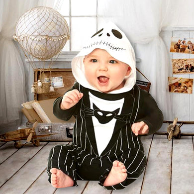 Long Sleeve Bodysuit For Newborn Baby Halloween Nightmare Bat Striped Romper Jumpsuit Outfits Bodysuit Set