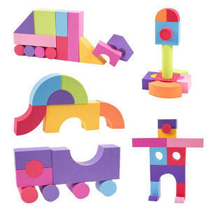50PCS Ultra-light Colorful EVA Foam Building Block Brick Set Kid Child Soft Toy Gift Christmas Educational Toy