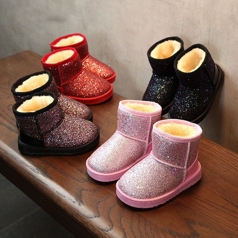 6af825b930a1 New Arrival 2018 Bling Winter Shoes for Girls Plush Toddler Boy Boots –  Uniwiin Store - Unique Gifts Family