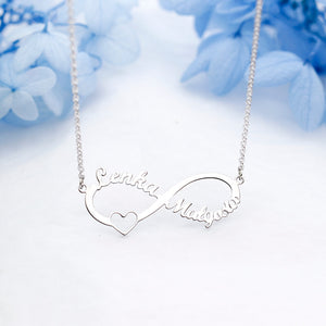 ffbe1090daae94 Eternal Infinity Sterling Silver Personalized Name Necklace Custom Made Any  Name Pendant Necklace