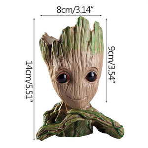 Baby Groot Flowerpot Planter Figurines Cute