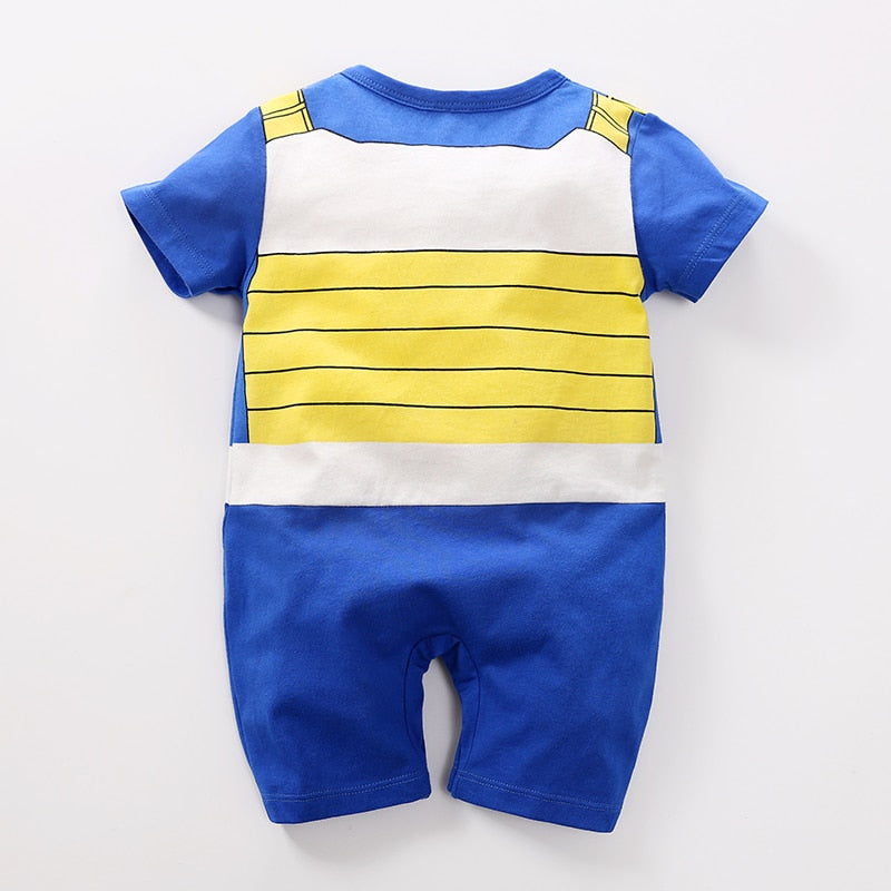 Baby Clothes Baby Rompers Summer Dragon Ball Vegeta Jumpsuits Newborn Baby Lovely Short Sleeve Cartoon Clothing