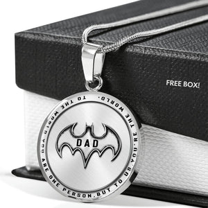 Father's Day Gift - Necklace - Gifts for Dad - Personalized Superhero Key Chain - Husband Gift - Mens Gift - Gifts for Him