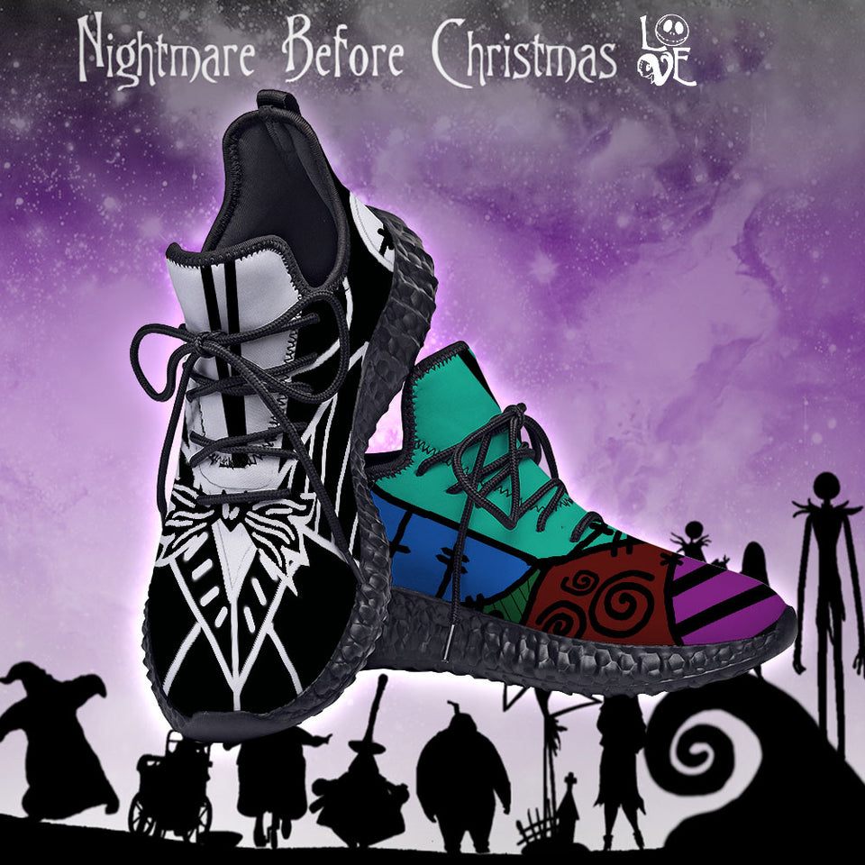 Nightmare Before Christmas Jack and Sally Custom Yeezy Sneakers