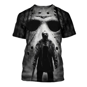 New 2019 Summer Tees Halloween Horror Michael Myers 3D Printed Men's Tops Unique Clothing Short Sleeve T shirt