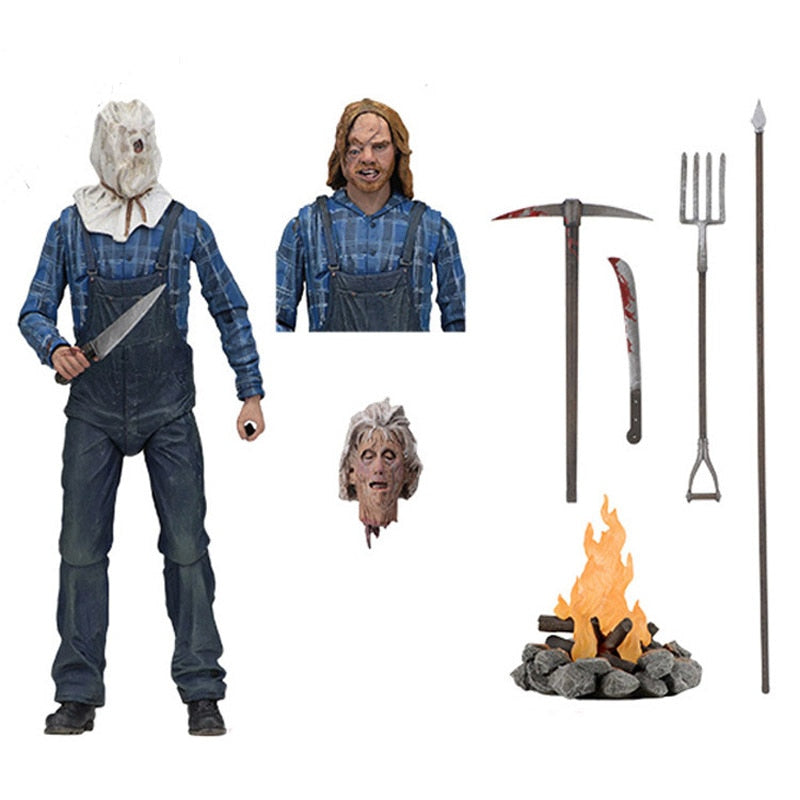 Friday the 13th Part 2 Jason Voorhees Horror Actions Figure Model Toys Doll  Halloween Gift