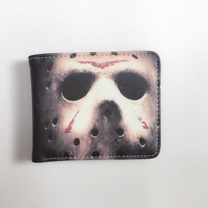 New Arrival movie Friday 13th chucky nightmare on elm street mens Wallet Card Holder with coin pocket