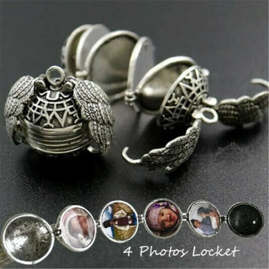 Hot Sale Expanding Photo Locket Women Necklace Chain Pendant Angel Wings Gift Jewelry Decoration 2019 Silver Necklace
