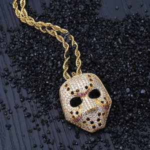 Free Shipping New Fashion Skull Pendant Statement Necklace Mask Charms Choker Crystal Necklace Women Holiday Women Jewelry