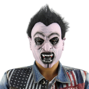 Creepy Scary Halloween Cosplay Costume Mask For Adults Party Decoration Props funny man mask horror latex clown mask hood