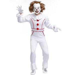 Unisex Stephen King's It Cosplays man Halloween Clown Joker Pennywise Costumes Carnival Purim masked ball party Dress