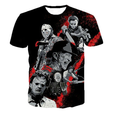 Freddy Jason Murderers Personality T Shirts Horror Movies 3D Printed T Shirts
