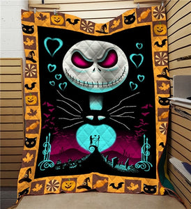 Cartoon The Nightmare Before Christmas Jack Summer Quilt Blanket Mat 3D Printed Bed Sofa For Kids Adult Boy Girls Washable Gift
