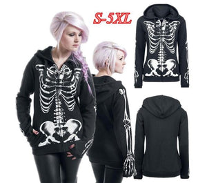 3d Hoodies Cool Women Fashion Skull Skeleton Print