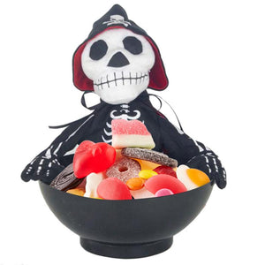 Candy Pot Ghost Fruit Tray Ghost Halloween Spoof Ghost Candy Bowl Ghost Innovative Electric Toy Halloween Decoration